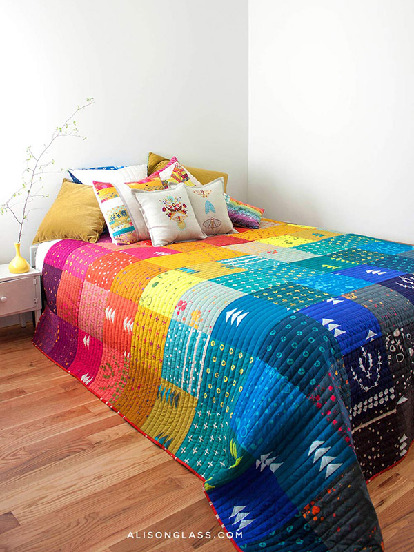 handcrafted patchwork quilt