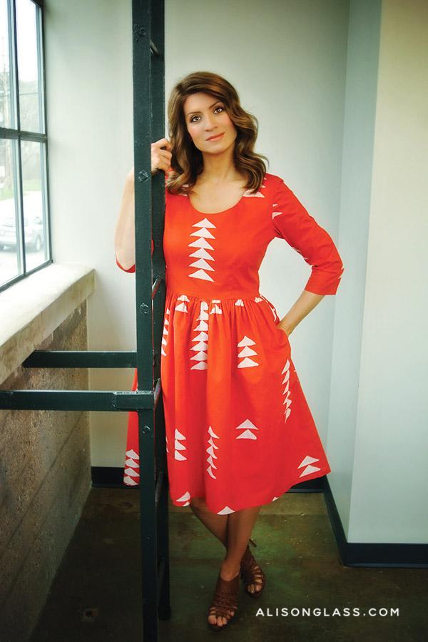 Essentials Series Garment Pattern Woven Dress with gathered waist