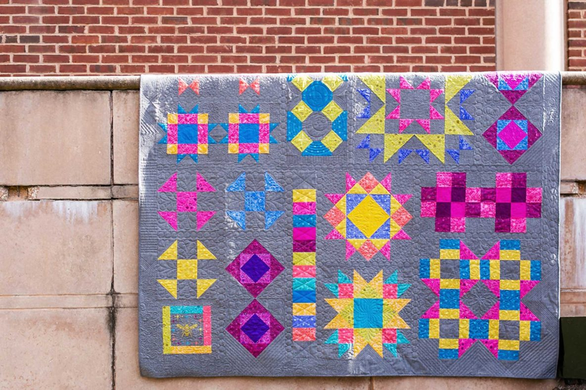 alison glass bernina bom quilt brick wall