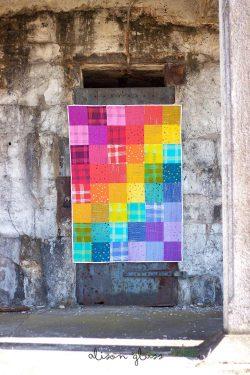 chroma patchwork quilt throw-size close