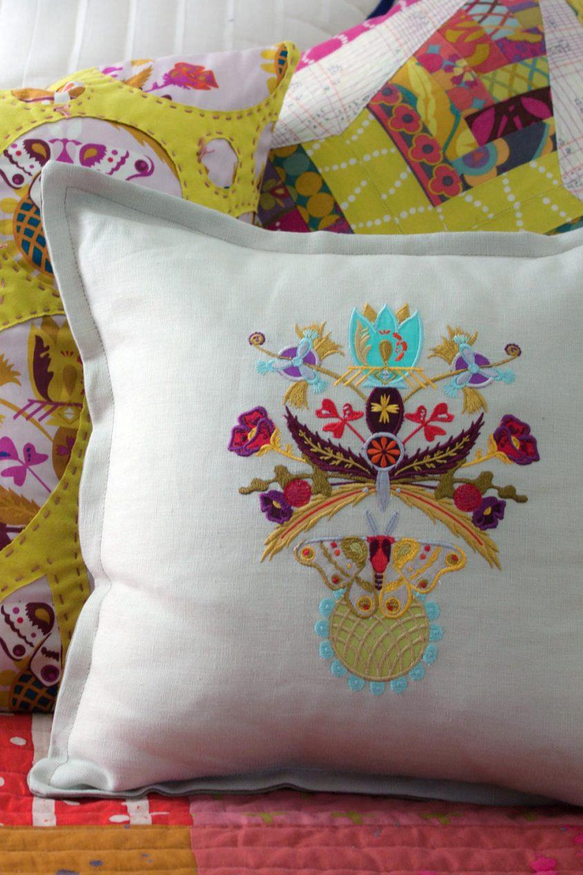 ex libris embroidery set