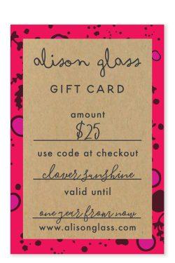 25 dollar gift card