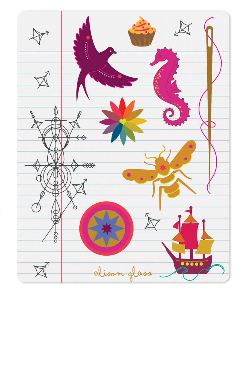 notebook sticker sheet