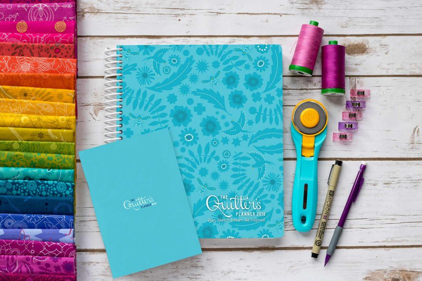 2018 quilters planner and mini