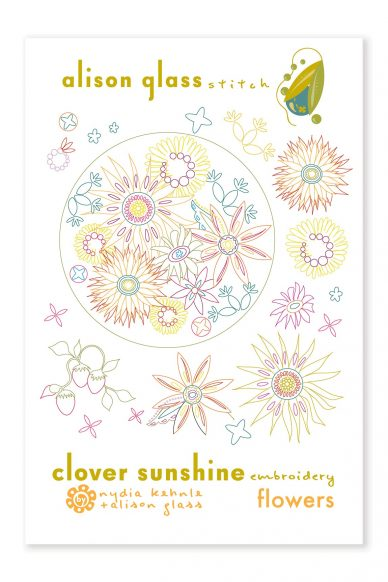 clover sunshine flowers alison glass pattern company