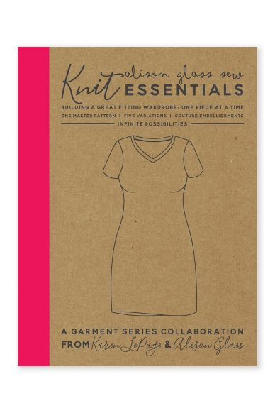 knit essentials alison glass pattern company cover