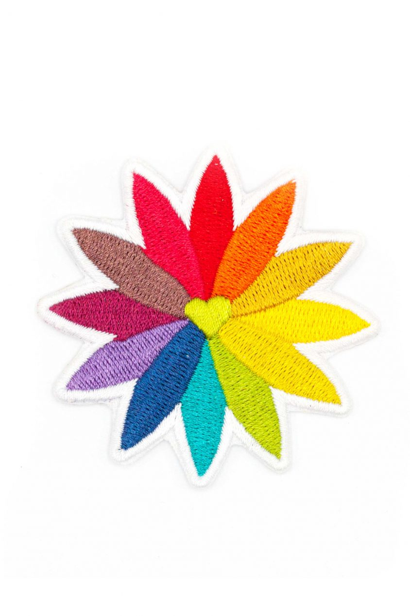 rainbow flower patch