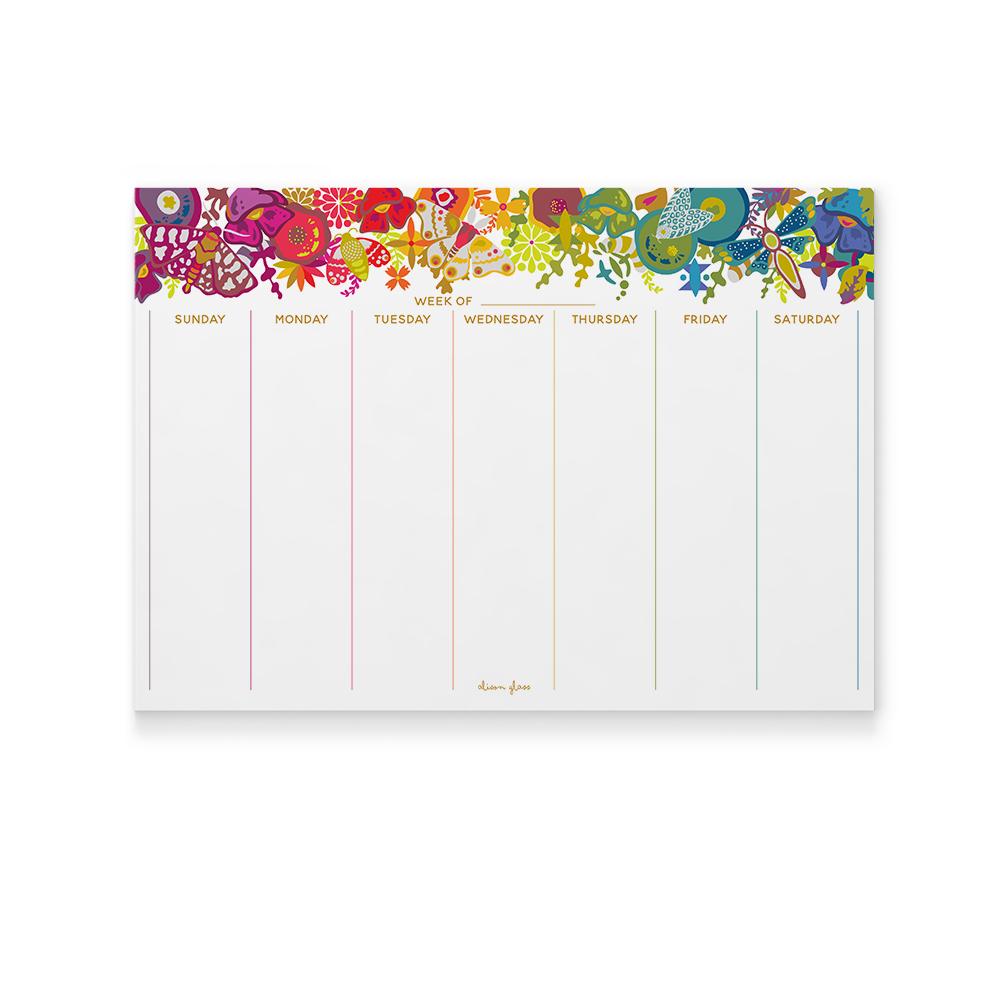 art theory calendar pad