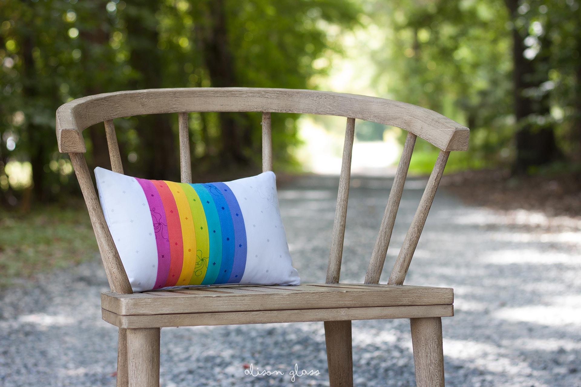 Sun Print PIllow in Chair