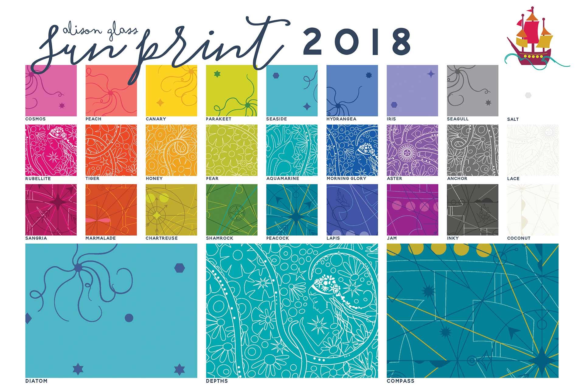 Sun Print 2018 Chart