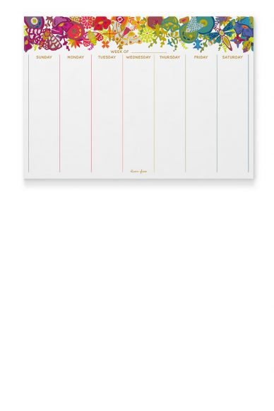 art theory calendar notepad