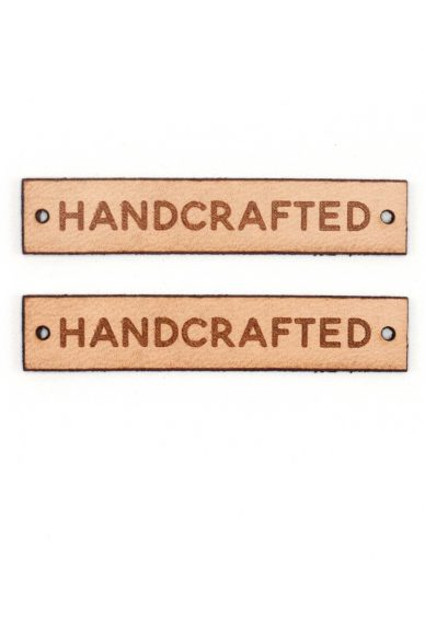 handcrafted leather labels
