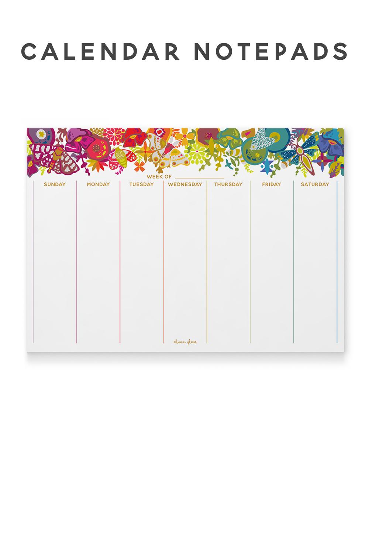 shop calendar notepads