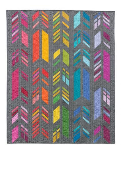 kaleidoscope feathers quilt