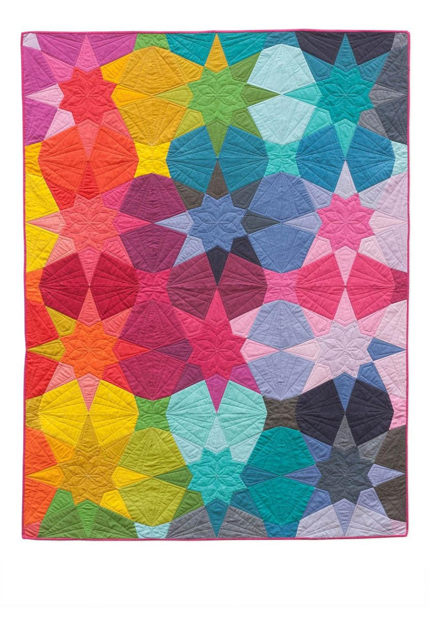 kaleidoscope swell quilt
