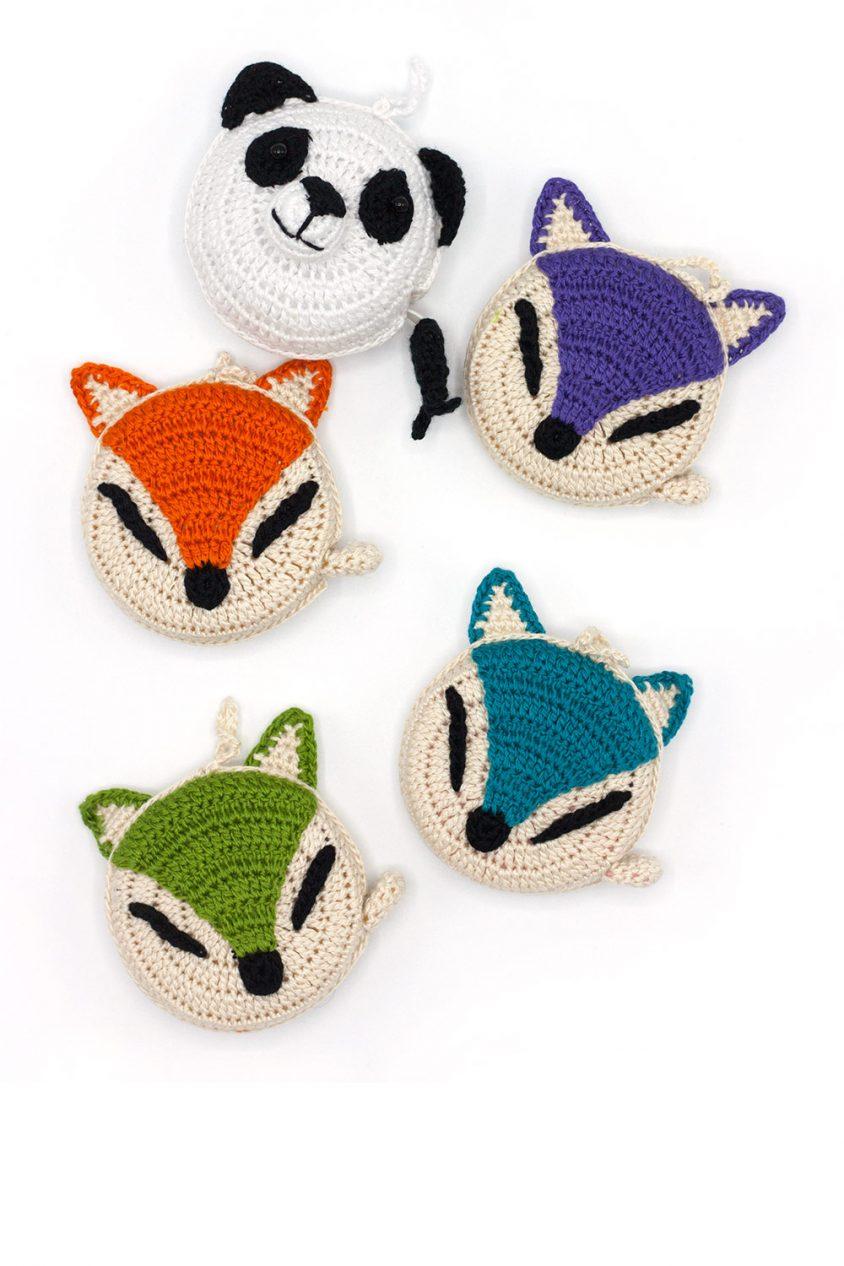 panda and fox tape measures