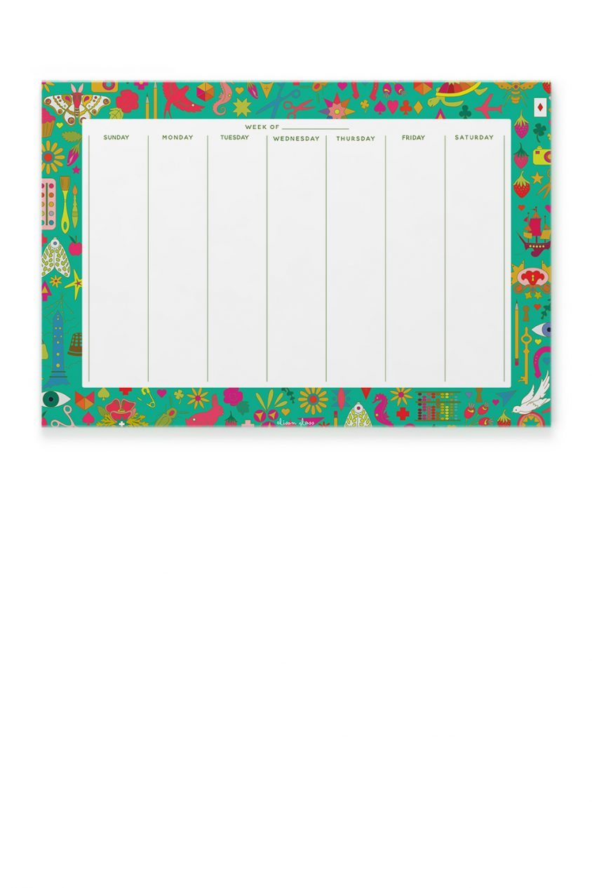 collection calendar notepad