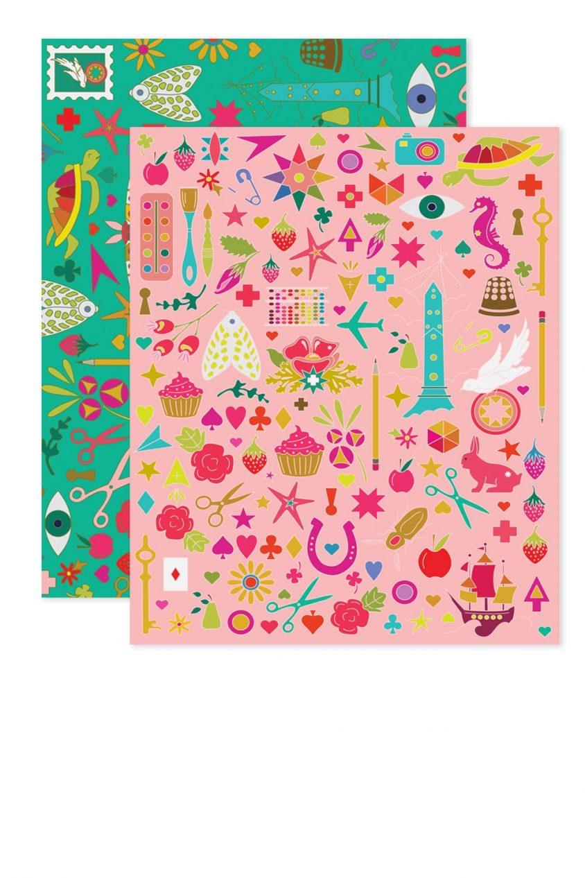 pink collection card