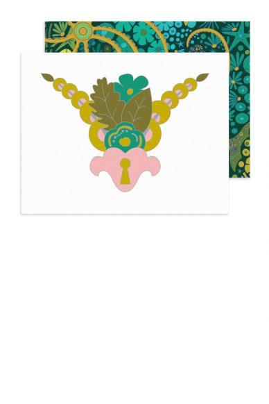 locket flower card