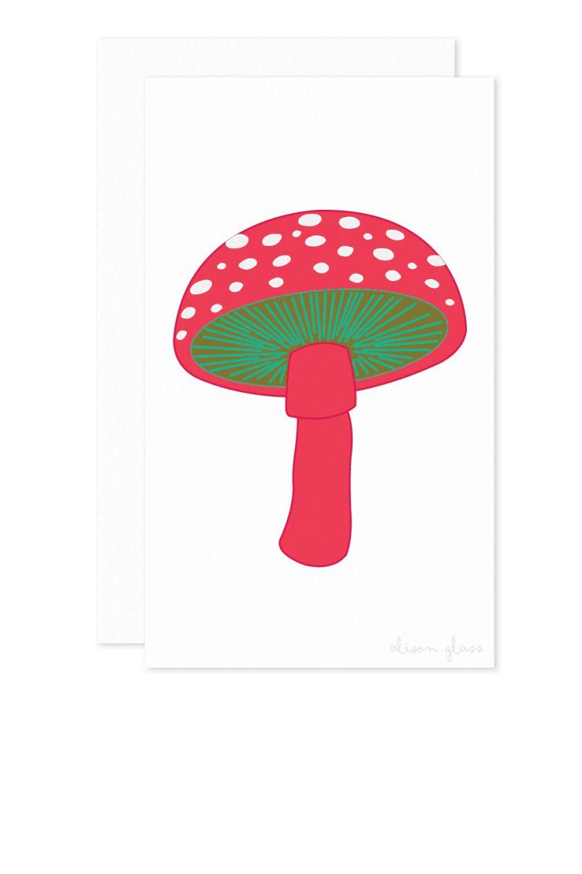 mushroom enclosure card