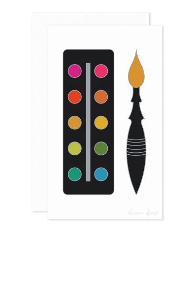 paint palette enclosure card
