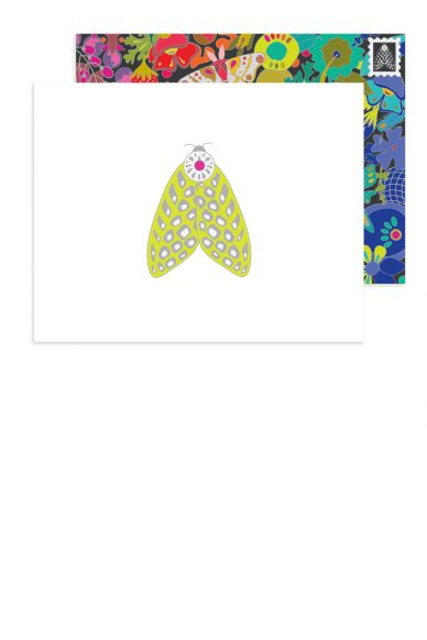 speckled moth card