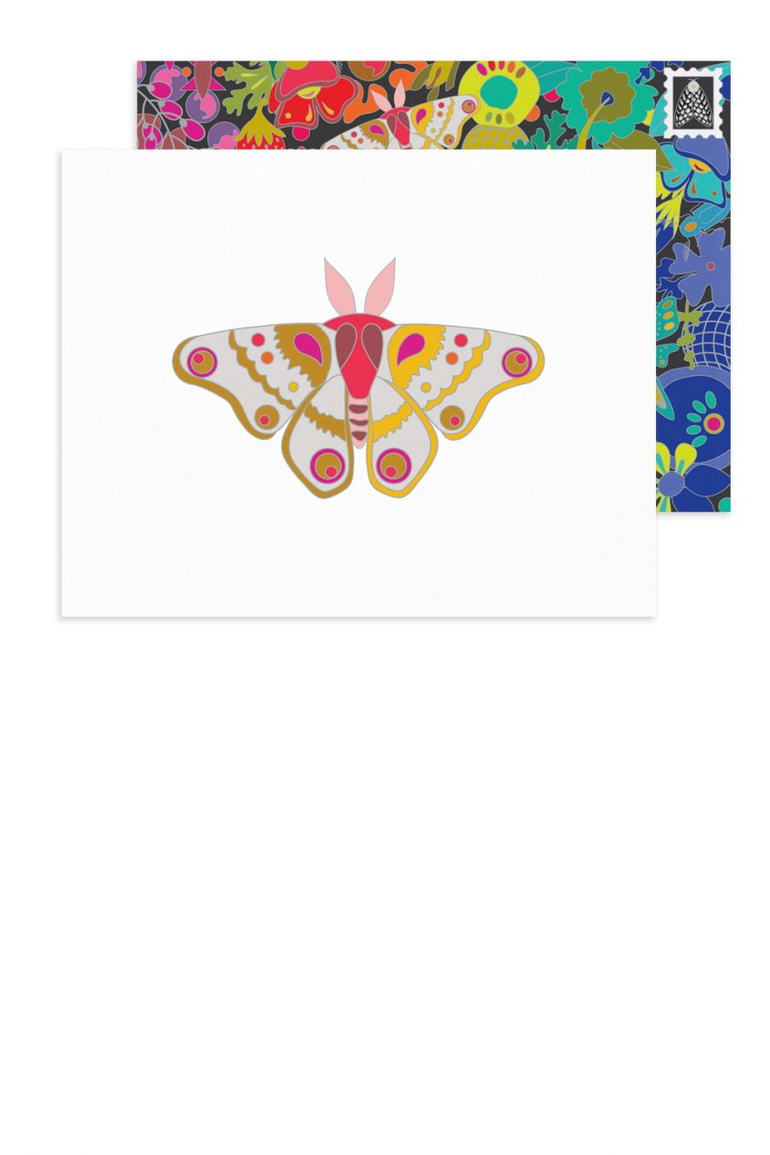 white moth card