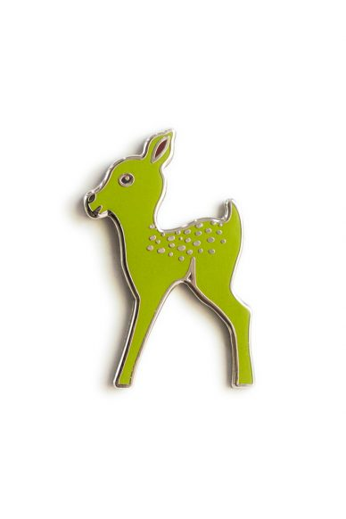 acid green fawn enamel pin