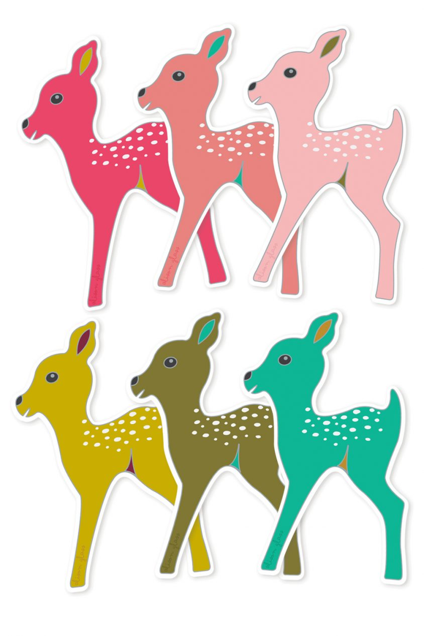 fawn sticker set
