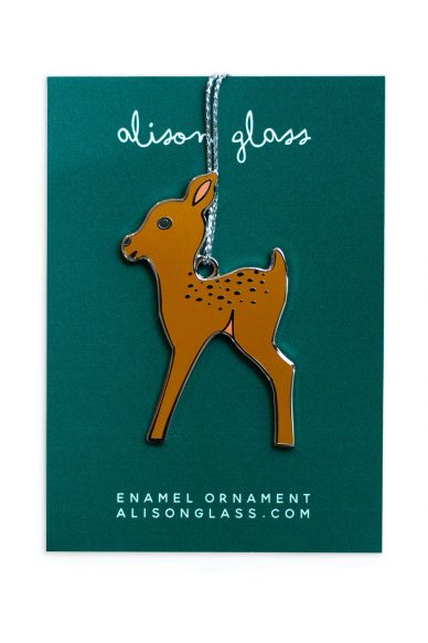 gold fawn ornament