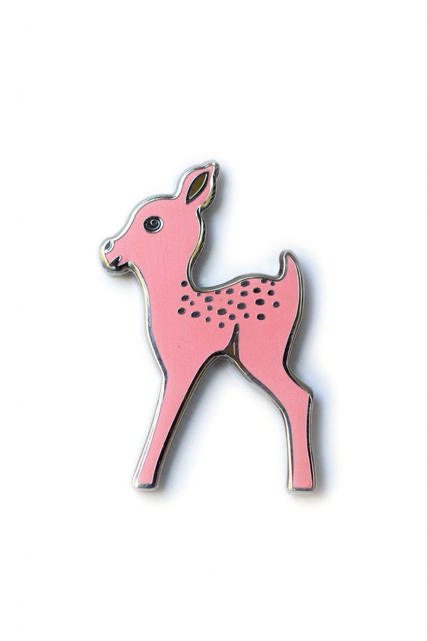 light pink fawn enamel pin
