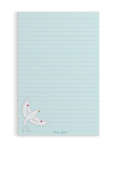 flying bird notepad