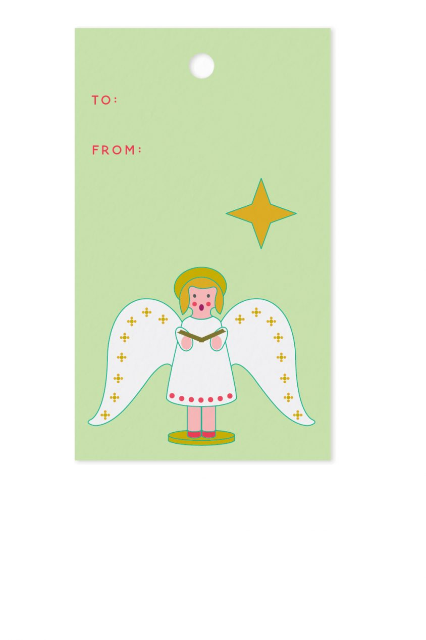 chorus angel gift tag
