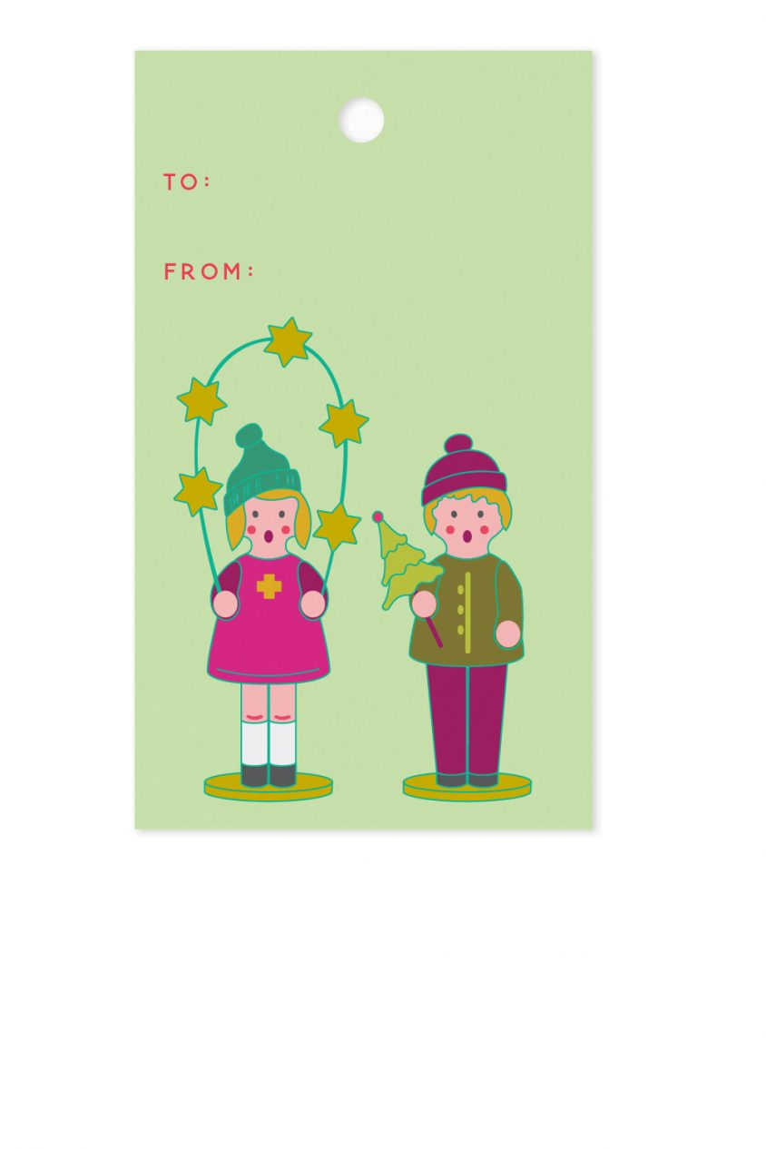 chorus children gift tag