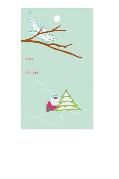 cottage gift tag