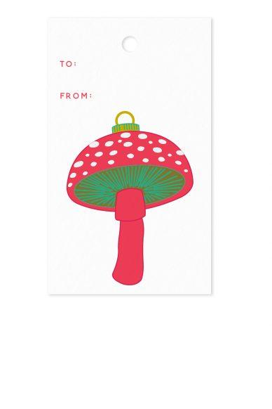 mushroom gift tag