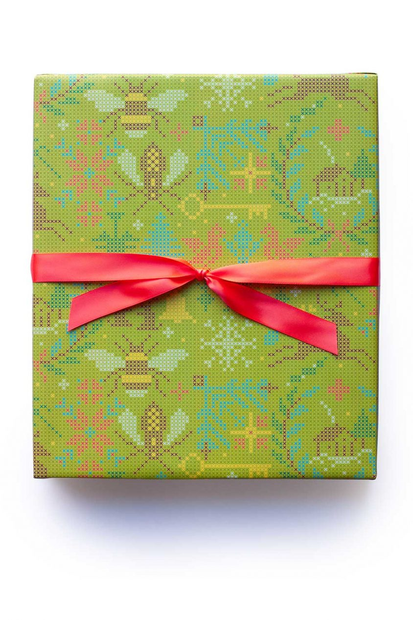 crossed gift wrap