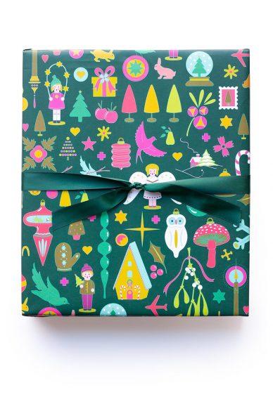 kitschy gift wrap