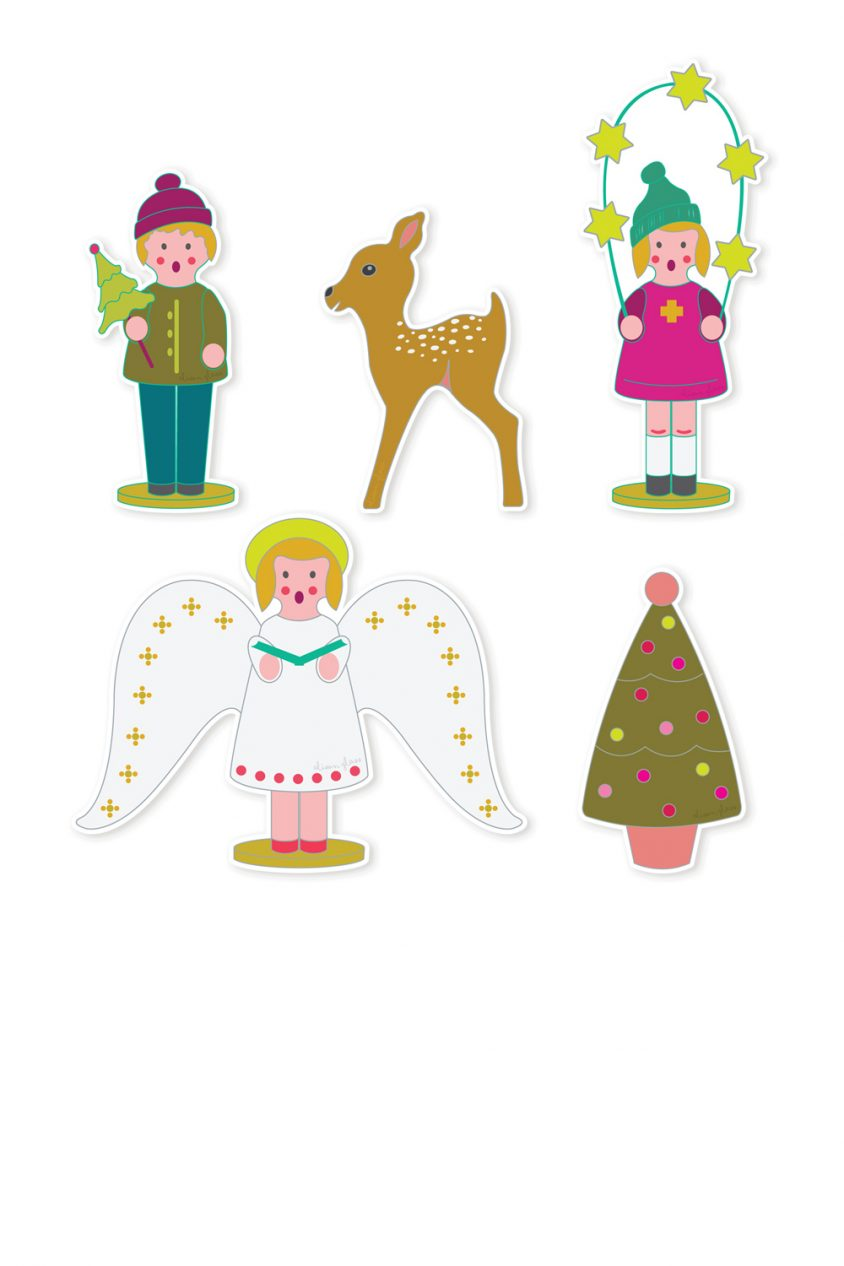 holiday sticker set
