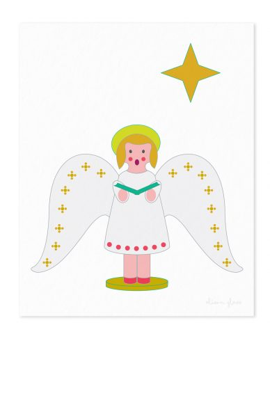 chorus angel in art print