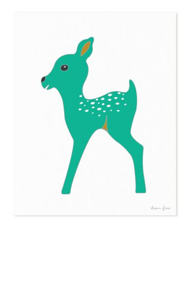 fawn in jade art print