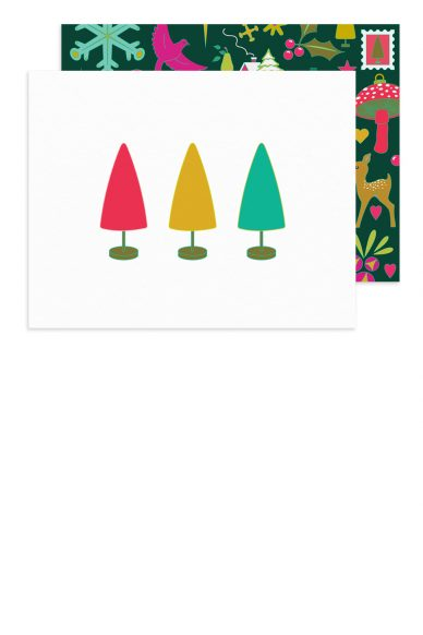 holiday trees card