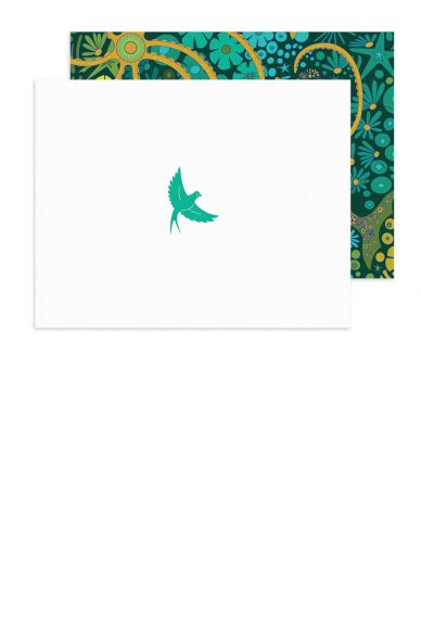 insignia flying bird card with diving board envelope