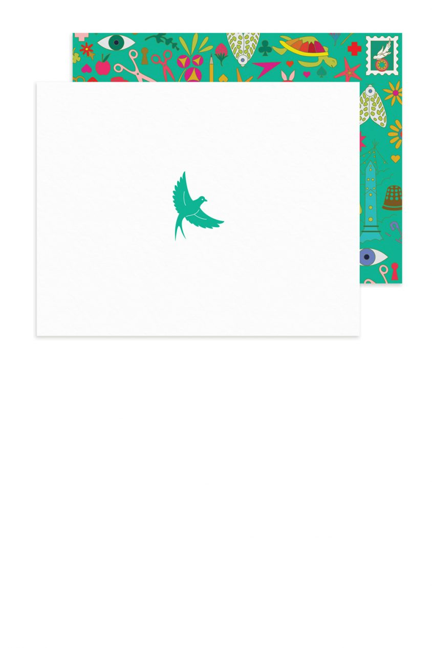insignia flying bird card