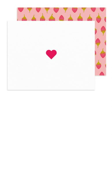 insignia heart card with road trip envelope
