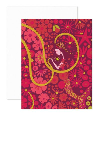 pink mermaid card