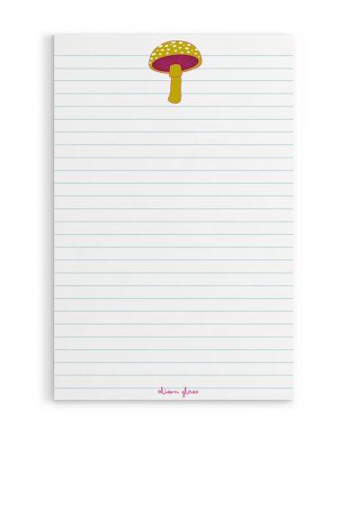 mushroom notepad