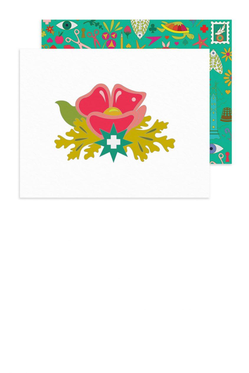 plus flower card