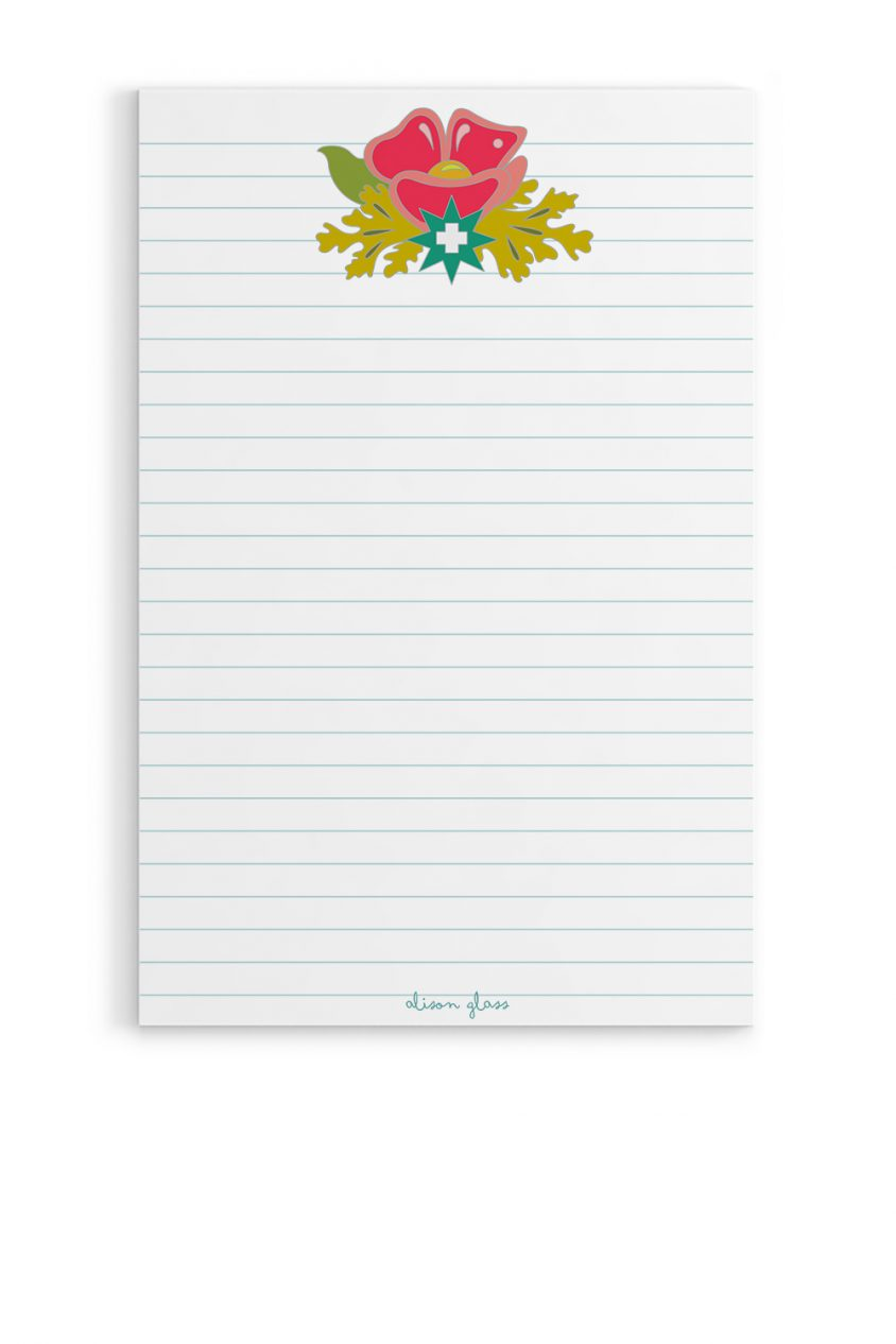 plus flower notepad