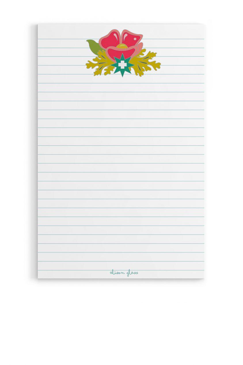 plus flower notepad